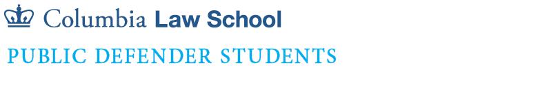 Public Defender Students of Columbia Law School logo
